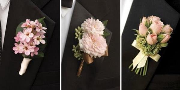 Бутоньерка из искусственных цветов для жениха своими руками